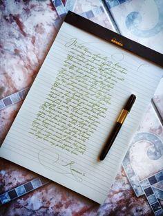 My everyday handwriting penmanship handwriting, calligraphy Perfect Handwriting, Handwriting Styles, Beautiful Handwriting, Calligraphy Handwriting, Calligraphy Letters, Penmanship, Commonplace Book, How To Write Calligraphy, Writing Art