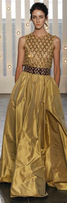 Gold Christmas Gown