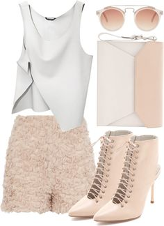"""""""edgy creamy"""" by fairysophie ❤ liked on Polyvore"""