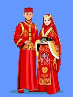 Disney Wedding Dresses, Pakistani Wedding Dresses, Wedding Hijab, Muslim Brides, Muslim Couples, Wedding Couple Cartoon, Nigerian Weddings, African Weddings, Indian Costumes