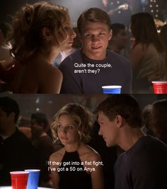 Riley and Buffy from Buffy the Vampire Slayer.