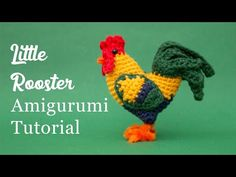 In this Amigurumi tutorial I show you how to crochet a little rooster. This is a fun little project, ideal for improving beginners as well as practiced croch. Crochet Cow, Crochet Elephant, Crochet Gratis, Free Crochet, Crochet Birds, Crochet Animal Patterns, Crochet Patterns Amigurumi, Stuffed Animal Patterns, Tshirt Garn