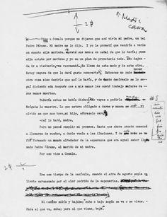 Primera página del mecanuscrito de Rulfo de 'Pedro Páramo'. / FUNDACIÓN JUAN RULFO