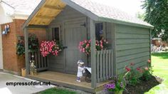 Delightful Shed With Porch Plans - Garden Sheds With Porches . Diy Storage Shed Plans, Garden Storage Shed, Porch Storage, Storage Sheds, Storage Units, Backyard Sheds, Outdoor Sheds, Cottage Garden Sheds, Shed With Porch