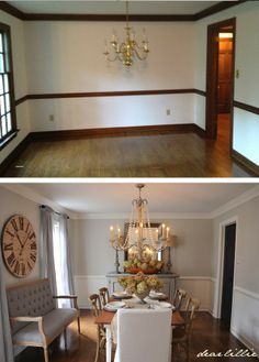 Dear Lillie: Updated Dining Room (gorgeous before & after comparison!) - source list included as well!