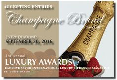 CALL FOR ENTRIES - LUXURY AWARDS - CHAMPAGNE BRAND OF THE YEAR -