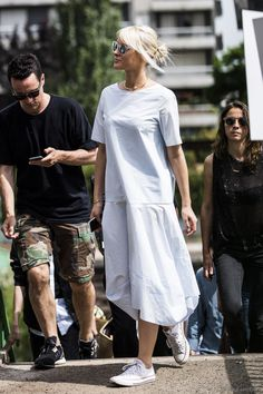 White Summer Dress at Paris Men's Fashionweek day 3