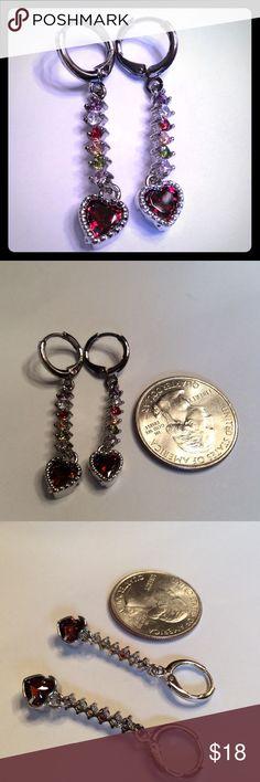 """925 SILVER DANGLE HEART EARRINGS 925 SILVER DANGLE HEART EARRINGS. 1 1/2"""" LONG. NEW IN BAG. READY FOR VALENTINES DAY.❤️ boutique Jewelry Earrings"""