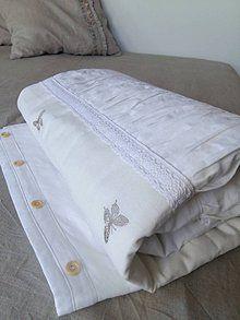 Úžitkový textil - Ľanový prehoz Dream of Butterflies - 6757008_