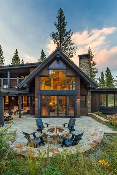 Sold Home 432 - Martis Camp: Lake Tahoe Luxury Community & Properties Mountain Home Exterior, Modern Mountain Home, Dream House Exterior, Mountain Homes, Mountain Living, Lake House Plans, Dream House Plans, Rustic House Plans, Dream Home Design