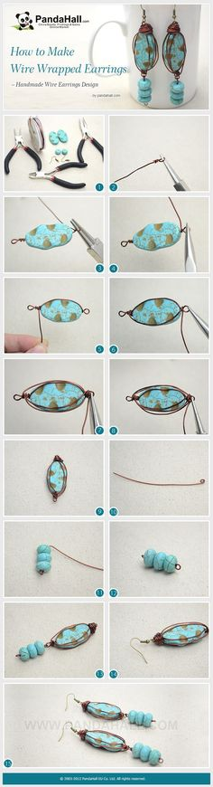 The vintage wire earring design is easy to ... | Jewelry Making Tutor