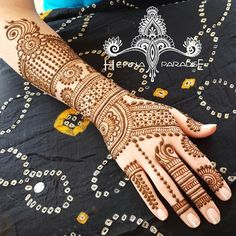 Bridal Mehndi On Hands http://www.maharaniweddings.com/gallery/photo/88683
