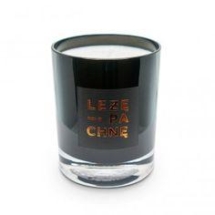 sojowa świeca szklana - czarna