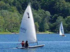 Sailboat on Thompson's Park near Albany NY