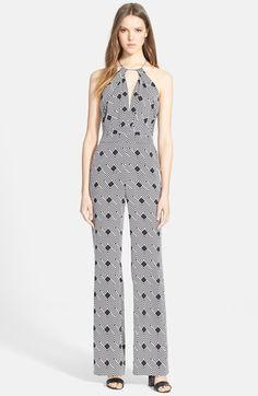 Diane von Furstenberg 'Ireland' Print Silk Jumpsuit available at #Nordstrom
