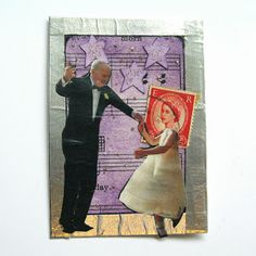 Postage Stamp People ATC Swap: We Could Have Danced All Night