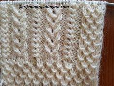 Şiş örgü yelek modellerinin en kolay modellerinden biri olan cennet elmaları yelek modelinin kolay yapılışı karşınızda. Yapılışı son derece kolay ve kafa karıştırmayan bir örgü modeli. İsterseniz erkek örgülerinde yada bere modellerine çok yakışan bir örgü. Anne yeleklerinde yada bohçalık yelek modellerinde bu güzel Knitting Stiches, Knitting Videos, Crochet Stitches, Knitting Patterns, Crochet Patterns, Easy Model, Knit Vest, Pants Pattern, Kids Wear