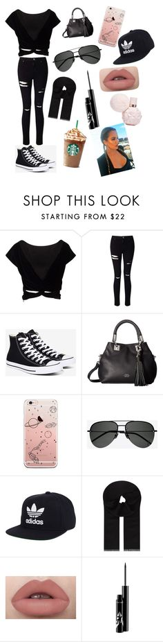 """🙈💕"" by moonlightbaexo ❤ liked on Polyvore featuring Miss Selfridge, Converse, Vince Camuto, Yves Saint Laurent, adidas and MaxMara"