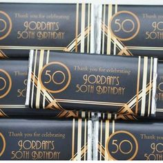 Wrappers for chocolate Great Gatsby inspired
