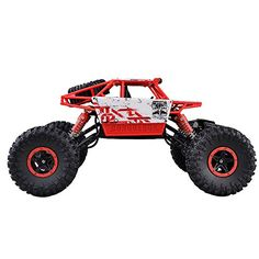 Hobby RC Trucks - 118th Scale Electric Hot RC Vehicle Toy 4WD 4X4 Powerful Electric Remote Control Rock Crawler RTR With 24Ghz Radio Control Color by Random -- Find out more about the great product at the image link.