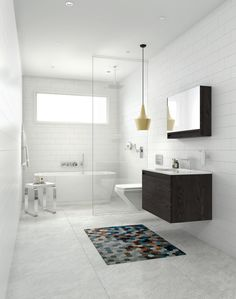 This lustrous tub is the perfect element to a stylish bathroom.