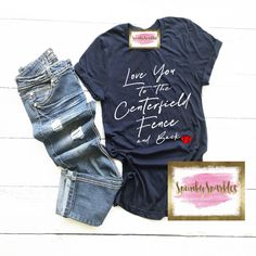 Love You To The Centerfield Fence and Back Baseball Shirt, Women's Baseball Shirt, Baseball Mom Shirt, Baseball Season, Baseball Love Tee by SpunkySparkles on Etsy