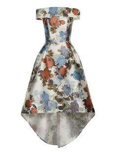 a2568f2aa079 Pin for Later: Your Wedding-Guest Dilemmas Solved in 27 Dresses Bardot Chi  Chi London Digital Print Bardot Dip-Hem Dress