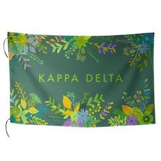 Kappa Delta Sorority Floral Flag-Style 2 - Brothers and Sisters' Greek Store