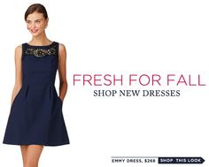 New fall line from Lilly... love this dress