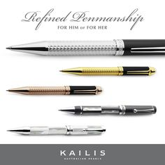 A gift of corporate sophistication perfect for christmas, anniversaries, birthdays or just because.  Leave a lasting impression this holiday season with a stunning Kailis pen.