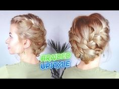 SHORT HAIR HAIRSTYLE EASY EVERYDAY BRAIDED UPDO | Awesome Hairstyles