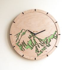 Great Handmade Wall Clock Tree Leaves The Inspiration For This Watch Was Found In  Tree Leaves : Fresh Spring Greenery, Morning Freshness And Natural Curu2026
