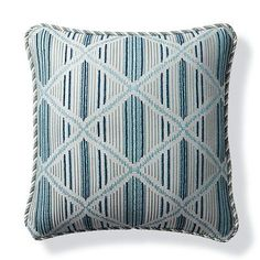 Tribal Craft Mist Outdoor Pillow - Frontgate