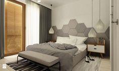 sypialnie nowoczesne - Średnia sypialnia małżeńska z balkonem / tarasem, styl minimalistyczny - zdjęcie od Grafika i Projekt architektura wnętrz
