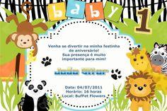 Convite digital personalizado Baby Zoo 002