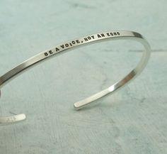 cuff bracelet with messages by Kathryn Riechert - KathrynRiechert