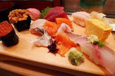 tsukiji fish market in Tokyo, freshest sushi!