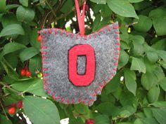 Ohio State ornament --Buckeye proud!