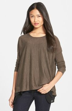 Eileen Fisher Lighweight Boxy Merino Wool Sweater (Regular & Petite) available at #Nordstrom