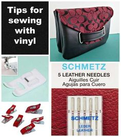 Easy tips for sewing with vinyl and how to get great results with this tricky material for excellent bag-making