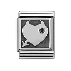 Nomination Big Oxidized Naughty Heart Symbols Charm 332307 05  426c155c4