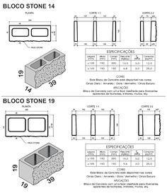 tijolos de concreto - Pesquisa Google