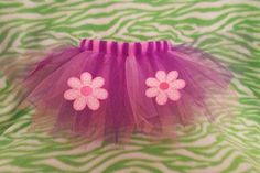 Baby tutu with flowers