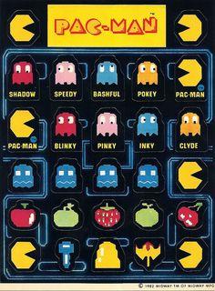 Pac-Man Stickers