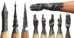 Delicate Pencil Lead Sculptures Carved by Salavat Fidai.