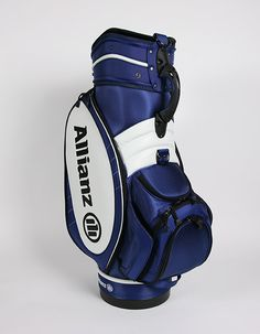 We re digging the rich navy blue on this custom corporate Vessel golf bag. b7c62d998238a