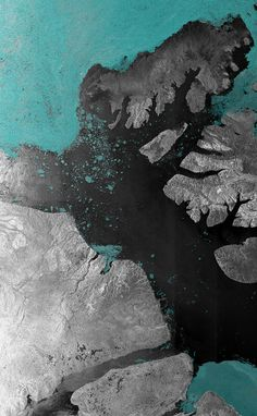 The McClure Strait in the Canadian Arctic Archipelago, acquired on Aug. 31, 2007 by satellite Envisat. The McClure Strait is the most direct route of the Northwest Passage and has been fully open since early August 2007.