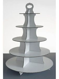 Disposable-Cupcake-Stand-5-TIER-Made-from-White-Cardboard-for-Party-and-Event-UK