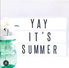 Yay, it's summer. Light box.