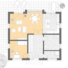 Moderne Häuser | Haus Hamburg, Grundriss Erdgeschoss